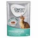 Concept for Life Sterilised Cats - in Soße - 12 x 85 g