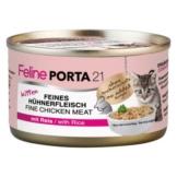 Feline Porta 21 Kitten, Hühnerfleisch mit Reis - 6 x 90 g