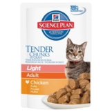 Hill's Feline Adult Light, mit Huhn - 6 x 85 g
