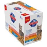 Hill's Feline Frischebeutel, Light Adult Fleisch & Fisch - 12 x 85 g (2 Sorten gemischt)