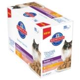 Hill's Feline Senior Healthy Ageing 11+, Huhn & Lachs - 12 x 85 g (2 Sorten gemischt)