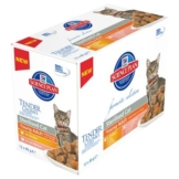 Hill's Feline Young Adult Sterilised, Huhn & Lachs - 12 x 85 g (2 Sorten gemischt)
