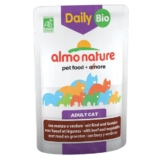 Almo Nature Daily Menu BIO Cat mit Rind und Gemüse - 30x70g
