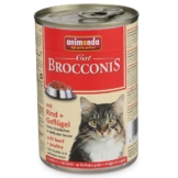 Animonda Katzenfutter Brocconis Rind und Geflügel - 12x400g