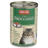 Animonda Katzenfutter Brocconis Wild und Geflügel - 24x400g
