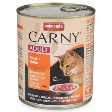 Animonda Nassfutter Carny Adult Rind und Huhn - 12x800g
