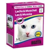 Bozita Häppchen in Gelee mit Lachs & Muscheln 16x370g