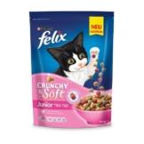 FELIX Crunchy & Soft Junior mit Huhn und Gemüsenote - 2x950g