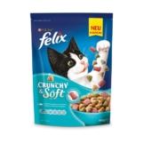 FELIX Crunchy & Soft mit Thunfisch, Seelachs und Gemüsenote - 2x950g