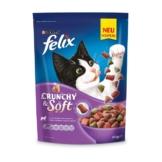 FELIX Katzentrockenfutter Crunchy & Soft mit Lamm, Truthahn und Gemüsenote - 2x950g