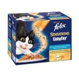 Felix Sensations Crunchy Crumbles 10er Pack - Fisch Mix