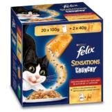 Felix Sensations Crunchy Geschmachsvielfalt vom Land 20x100g+2x40g