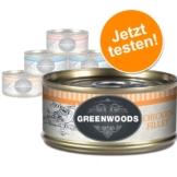 Gemischtes Probierpaket: Greenwoods Nassnahrung für Katzen - 6 x 70 g