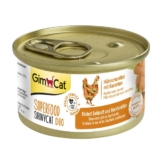 GimCat Superfood ShinyCat Duo Hühnchenfilet mit Karotten - 24x70g