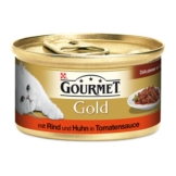 Gourmet Gold Délicatesse en Sauce Rind & Huhn - 12x85g