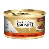 Gourmet Gold Délicatesse en Sauce Rind & Huhn - 48x85g
