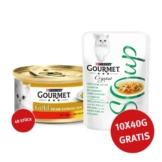 Gourmet Gold Feine Komposition Rind & Huhn 48x85g + Crystal Soup mit Huhn und Gemüse 10x40g GRATIS!