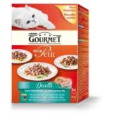 Gourmet Katzenfutter Mon Petit Duetti Fleisch und Fisch Multipack - 12x50g