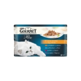 Gourmet Nassfutter Perle Erlesene Streifen 4er Multipack - Rind, Kaninchen, Lachs, Huhn