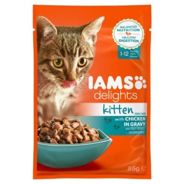 Iams Delights Katzen-Nassfutter in Soße Kitten 24x85g