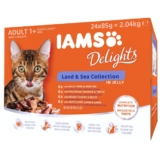 Iams Delights Multipack Land & Sea Collection in Gelee - 24x85g