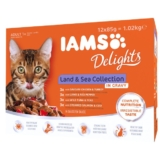 Iams Delights Multipack Land & Sea Collection in Sauce - 12x85g