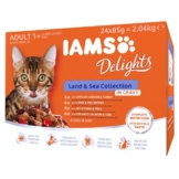 Iams Delights Multipack Land & Sea Collection in Sauce - 24x85g
