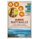 IAMS Naturally Katze Nassfutter Adult Kabeljau in Sauce - 85g