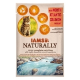 IAMS Naturally Katze Nassfutter Adult Lachs in Sauce - 85g