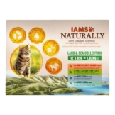 IAMS Naturally Katze Nassfutter Adult Land & See Mix in Sauce 12x85g