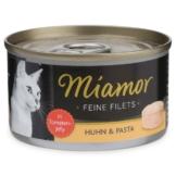 Miamor Katzenfutter Feine Filets in Jelly Huhn und Pasta - 24x100g
