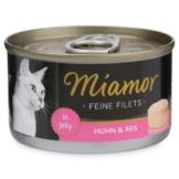 Miamor Katzenfutter Feine Filets in Jelly Huhn und Reis - 24x100g