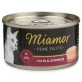 Miamor Katzenfutter Feine Filets in Jelly Huhn und Schinken - 24x100g