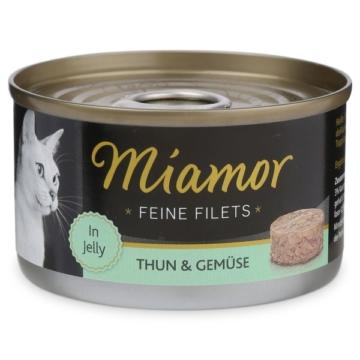 Miamor Katzenfutter Feine Filets in Jelly Thunfisch und Gemüse - 24x100g
