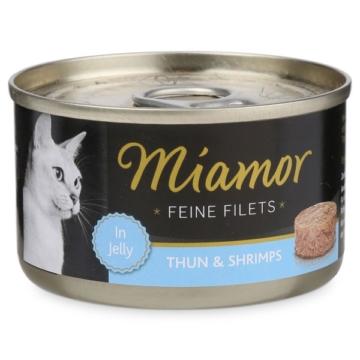 Miamor Katzenfutter Feine Filets in Jelly Thunfisch und Shrimps - 24x100g
