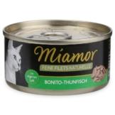 Miamor Katzenfutter Feine Filets Naturelle Bonito-Thunfisch - 12x80g