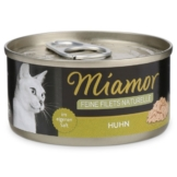 Miamor Katzenfutter Feine Filets Naturelle Huhn Pur - 12x80g