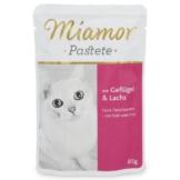 Miamor Katzenfutter Pastete Geflügel und Lachs - 12x85g