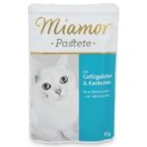 Miamor Katzenfutter Pastete Geflügelleber und Kaninchen - 24x85g