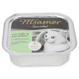 Miamor Katzenfutter Sensibel Kalb und Kartoffel - 8x100g