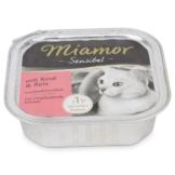Miamor Katzenfutter Sensibel Rind und Reis - 16x100g