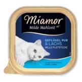 Miamor Milde Mahlzeit Geflügel Pur & Lachs - 8x100g