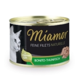 MIAMOR Nassfutter Feine Filets Naturelle Bonito-Thunfisch - 12x156g