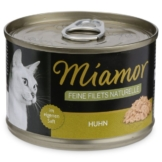 MIAMOR Nassfutter Feine Filets Naturelle Huhn - 12x156g