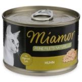 MIAMOR Nassfutter Feine Filets Naturelle Huhn - 12x156g