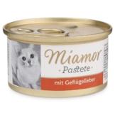 Miamor Nassfutter Katzenzarte mit Geflügelleber in Soße - 6x85g