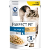 Perfect Fit Katzenfutter Indoor mit Huhn & Erbsen - 12x85g