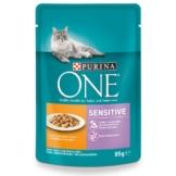 Purina ONE Sensitive mit Huhn & Karotten 24x85g