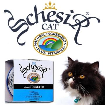 Schesir Katzenfutter in Gelee 14x85g-Dosen - Hühnerfilet & Schinken
