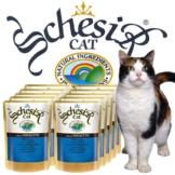 Schesir Soft Katzenfutter in Frischebeutel 20x100g - Thunfisch mit Hühnerfilet